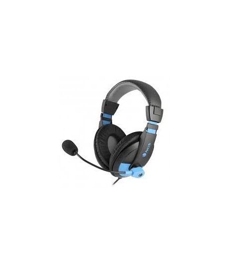 Microphone - Jack 3.5mm Quilted Earcup - Preto/Azul  Referência: MSX9PROBLUE